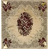 Table top tablecloth embossed embroidery , 2724676317764