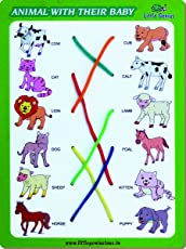 Little Genius Match The Column Animal with Their Baby