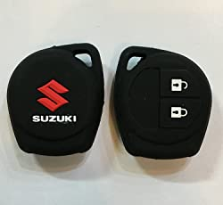 Brand Bites Silicone Key Cover with 2 Button Remote for Maruti Suzuki Swift/WagonR/Celerio/Swift Dzire/Breza/Ciaz/Scross (Black, IJ-2UH4-VYLT)