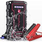 TrekPow Booster de Batterie, 2500A 18000mAh IP68 Étanche Jump Starter (pour 12V Moteur jusqu'à 9L Essence et 8L Diesel…
