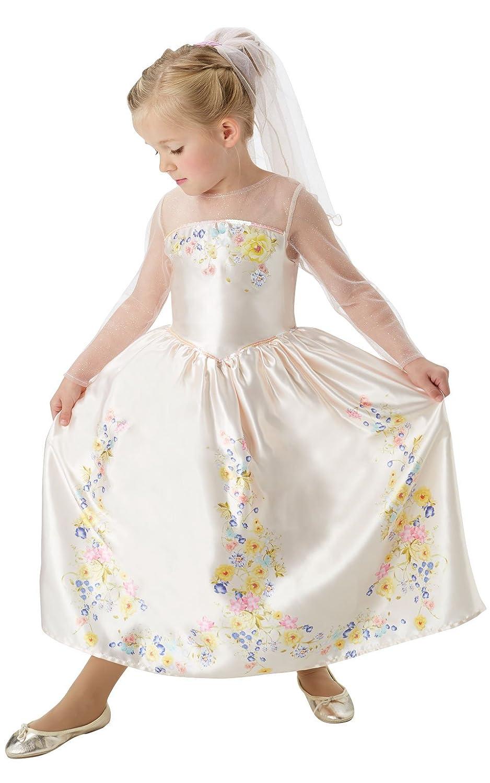 Rubies Official Disney Cinderella Live Action Wedding Dress Child Costume