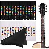 HONGECB Autocollant de Note à Guitare, Échelle Musicale Autocollant pour 6 Cordes Guitares Électrique et Acoustique, Transpar
