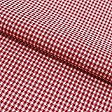 Hans-Textil-Shop Stoff Meterware, Vichy Karo 2x2 mm, Rot,