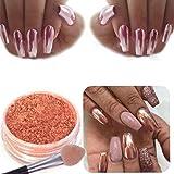 Bonjouree Paillettes En Poudre Pour Nail Art Or Rose Décoration de Ongles