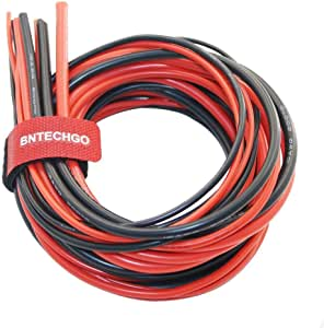 Bntechgo 10 12 14 16 18 Gauge Silicone Wire 600v 30 Feet 3ft Black And 3ft Red 10awg 14awg 12awg 16awg And 18awg Flexible High Temperature Resistant Electric Wire Strands Of Tinned Copper Wire Baumarkt