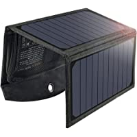 Solar Ladegerät,19W Faltbares Solarpanel Outdoor Regenbestädiges Charger mit 2 USB-Ports Kompatibel mit Allen Handys…