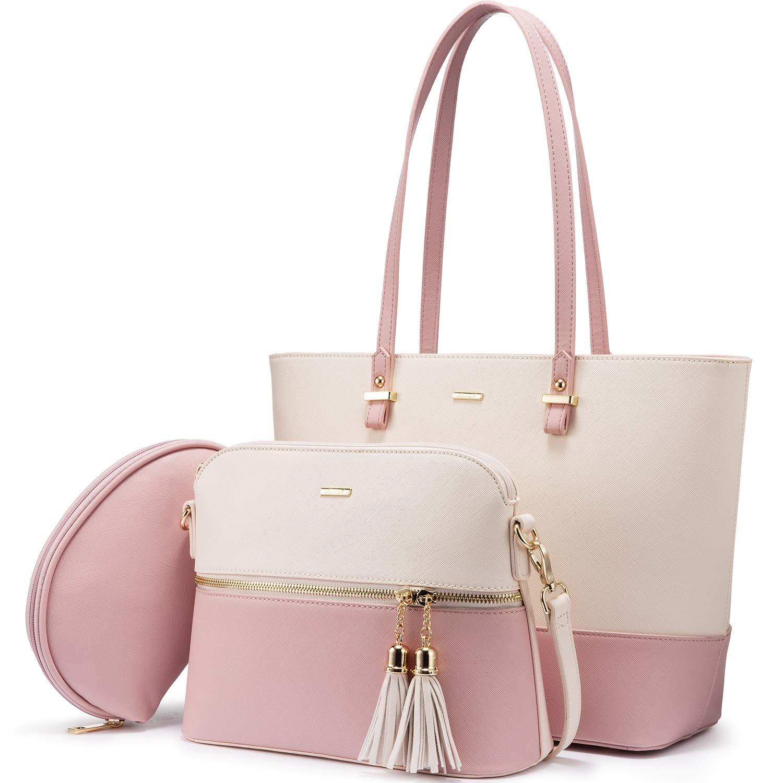 71fmmaIsEoL - Bolso para mujer Señoras Shopper Hobo Bolso de hombro Monedero Bolso grande para mujer Tote para oficina Escuela Compras…