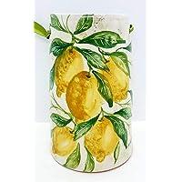 Tegola decorativa Linea Limoni Realizzata e Dipinta a Mano Le Ceramiche del Castello Nina Palomba Made in Italy…