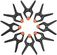 Umi. Essentials Nylon Federzwingen 8-teilig, 115mm schwerlaste Federklemmen Leimzwingen mit beweglichen Backen, für Muslin,H