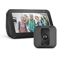 Blink XT2 System mit 1 Kamera + Echo Show 5, Schwarz, funktioniert mit Alexa