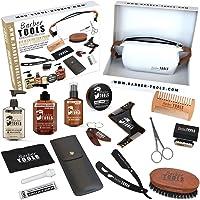 ✮ BARBER TOOLS ✮ Kit / Set / Cofanetto per la cura e manutenzione della barba e radersi | Cosmetici Made in Francia