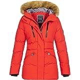 Geographical Norway - Chaqueta de invierno para mujer, con capucha de piel