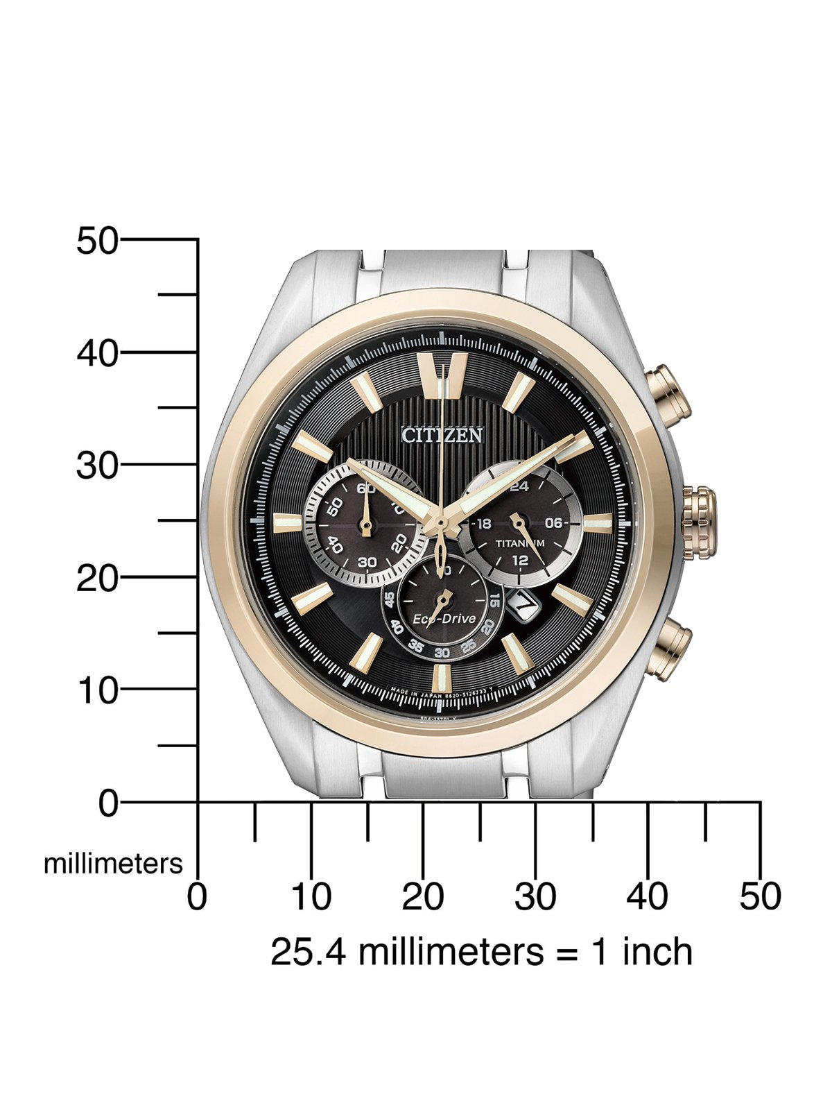 Citizen Super Titanium - Reloj de Cuarzo para Hombre, con Correa de Titanio, Color Plateado 2