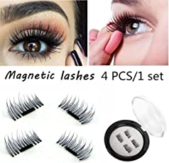 CGT 3D Magnetic Eyelashes For Women Natural Thick Long False Eyelashes,Reusable Ultra Thin Eyelash That Can Be Fixed Easily