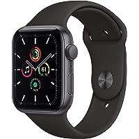 Novità Apple Watch SE (GPS, 44 mm) Cassa in alluminio grigio siderale con Cinturino Sport nero