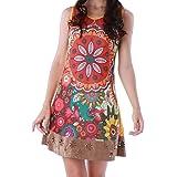 Panasiam - Vestido colorido de algodón en tallas S, M, L y XL, existencias limitadas (producto de boutique)