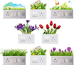 Decals Sticker Wall Sticker Switch Board Stickers Wall Art Switch Stickers Set of 8