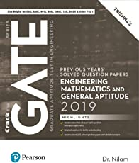 Previous Years' Solved Question Papers: GATE General Aptitude and Engineering Mathematics, 2019 by Pearson