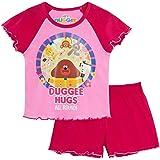 Hey Duggee Girls Short Pyjamas Kids Infants Pink Shortie Pjs Set Nightwear Shorts + Short Sleeve Tee
