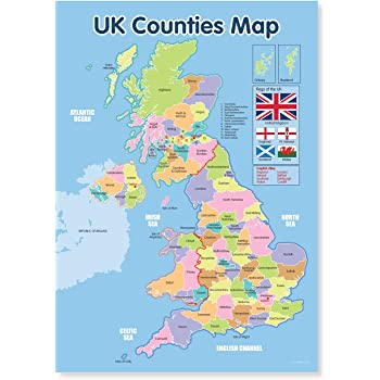 Map Of The Counties In England on