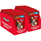 Drools Adult Wet Dog Food, Real Chicken and Chicken Liver Chunks in Gravy, 24 Pouches (24 x 150g)