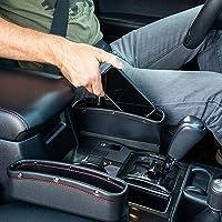 Lukzer 1 PC Leather PU Car Console Side Storage Organizer Seat Gap Filler Pocket Catch Caddy Space Saver Internal…