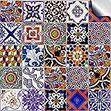 Stück 10cm Verschiedene Mosaic Wandfliese Aufkleber für 100mm quadratische Fliesen (24x TP 59 - 4