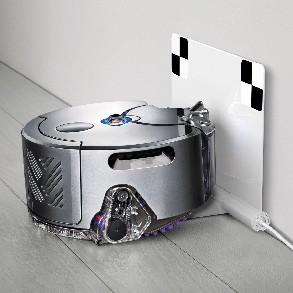 Dyson 360Eye Staubsauger-Roboter, doppelte Saugkraft, UK-Spezifikationen, Nickel/Blau