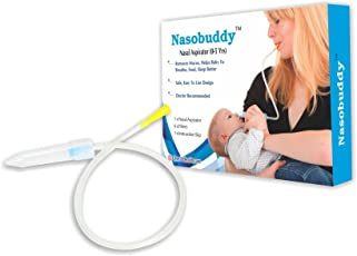 Nasobuddy baby nasal aspirator 0-5 years The Snotsucker Cold relief (Yellow)