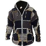 SHOPOHOLIC FASHION Mens Wool Patchwork Superwarm Jacket