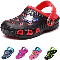 Kids Clogs for Girls and Boys Non-Slip Garden Shoes Slip-on Sandals Beach Pool Shower Slippers Surf Clogs for Children…