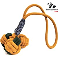 BnM Dog Toys for Adult Dogs and Puppies, 28 Inch (3 Ropeball Tug Toy, Multicolour)