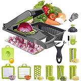 Yingji Vegetable Slicer Vegetable Chopper Mincer - Onion chopper Slicer Dicer - Hand chopper Vegetable Dicer - Pro Vegetable