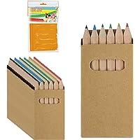 Partituki 25 Set de Boites de Crayons de Couleur. Chacun avec 6 Crayons de Couleur et 1 Guirlande (Couleur aléatoire) de…