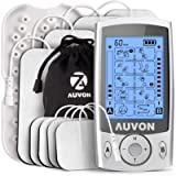 AUVON Dual Channel TENS Machine for Pain Relief, TENS Unit Muscle Stimulator with 20 Modes, 2' and 2'x4' TENS Pads…