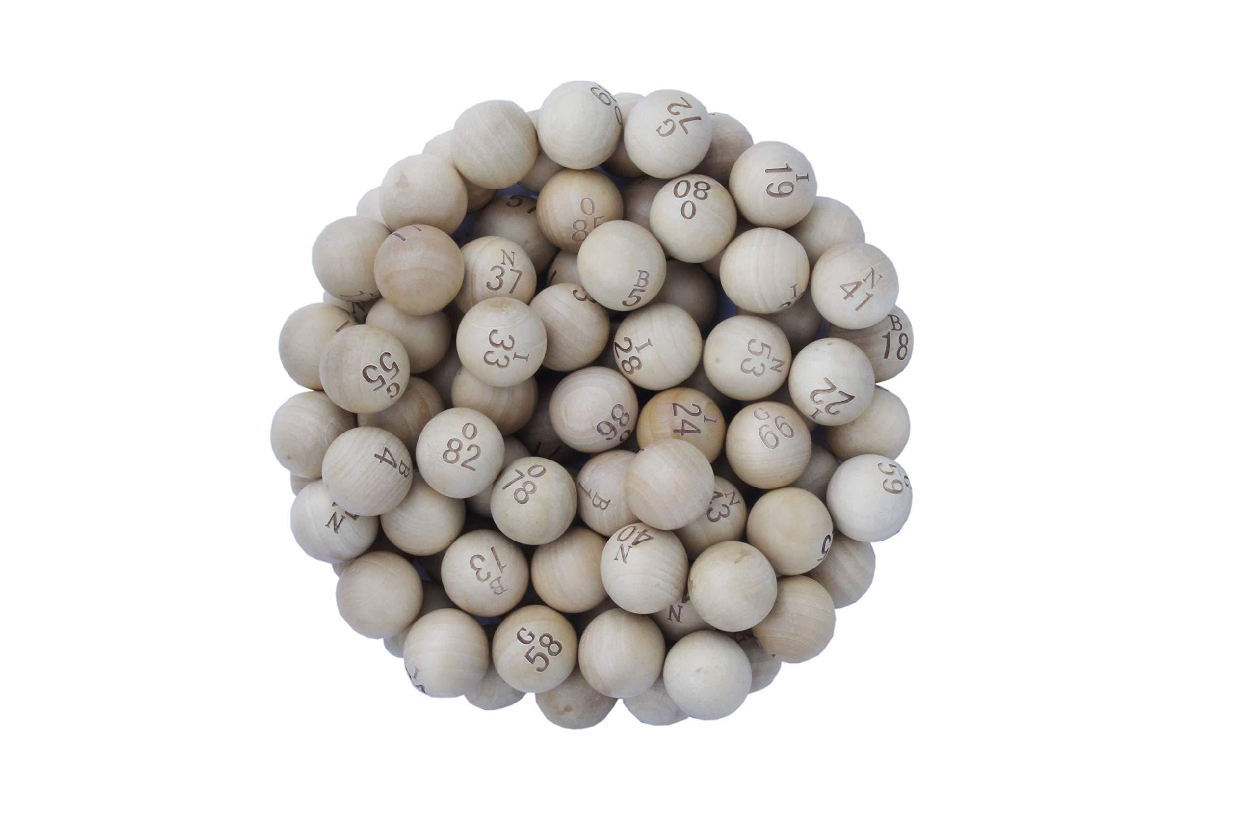CARTALTO-Set-mit-90-Loto-Kugeln-aus-Holz-Durchmesser-22-mm-BTBPBB22-Mehrfarbig