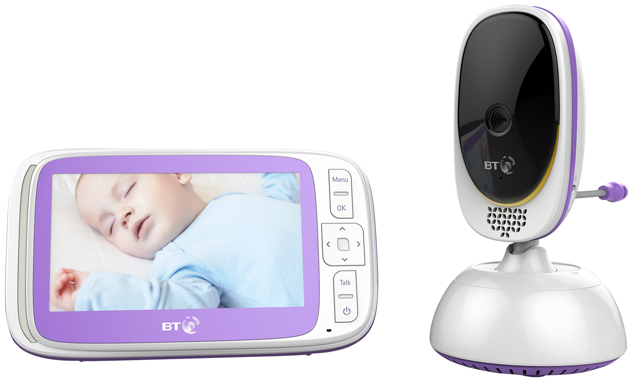 BT Video Baby Monitor 6000 BT 5 inch screen Temperature indication / 5 lullabies Remote control pan and tilt mechanism 1