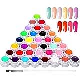 36 kleuren UV-kleurengel, UV-gel-set gelkleuren voor nagels, nail art-kleurengel-set, gelnagels kleuren, nagellak nagellak vo