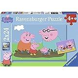 Ravensburger - 09082 - Puzzle Enfant Classique - La Vie De Famille - Peppa Pig - 2 X 24 Pièces