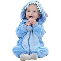 Unisex Bambino Inverno Pagliaccetto Coniglio Tigre Cucire Animale Stile Flanella Cosplay Halloween Costume Attrezzatura