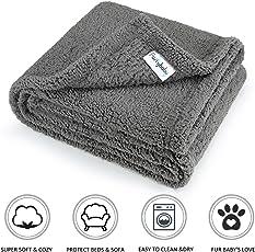 furrybaby Premium Flauschige Fleece Hundedecke,Weiche und Warme Hündchen Decke für Hund und Katze