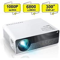 Videoprojecteur, ELEPHAS 6800 Lumens Rétroprojecteur 1080P Natif 1920x1080 Full HD Projecteur LED Portable Multimédia Home Cinéma Présentation PPT