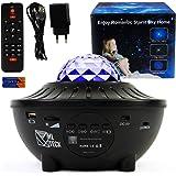 Projecteur Ciel Étoilé avec Enceinte Bluetooth, Veuilleuse Musicale et Lumineuse, Lampe Galaxie à LED Couleurs, 21 Jeux de Lu