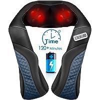 Appareil de massage Shiatsu sans fil pour la nuque, les épaules, le dos, la nuque - Avec chaleur - Massage 3D avec…