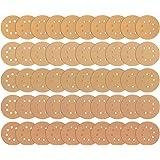 iTrunk 60 Pièces Disques de Ponçage de 8 Trous 5 Pouces Ponceuse Papier Sans Poussière - 10 Chacun de 60 80 120 180 240 320 Particules