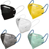 TrendzOn CE Certified Reusable Respirator (Multicolour, KN95 Filter, Pack of 5) for Unisex