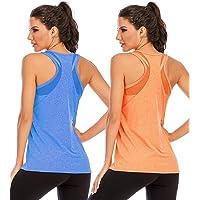 Nekosi Womens Workout Tank Tops Mesh Open Back Yoga Racerback Activewear Sleeveless Shirts