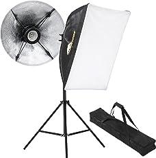 Studioleuchte ca. 78 cm - 200 cm, Softbox, Dauerlicht, E27 Sockel, Studio Lights, Fotostudio Licht, Beleuchtung, Fotografie