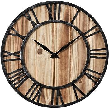 Hyzh 40cm157 Pouce Chiffres Romains Grande Horloge Murale Vintage