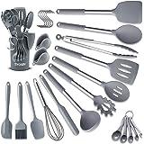 BAIYING Utensili Cucina Set, 30 Pezzi Accessori Cucina, con Antiaderente Resistente al Calore, Senza BPA, Utensili da Cucina